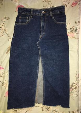 Трендова джинсова спідниця zara