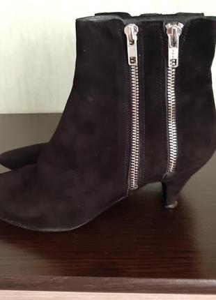 Ботинки женские, замш