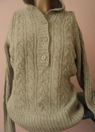 Шерстяной свитер благородного серого цвета. оригинал
