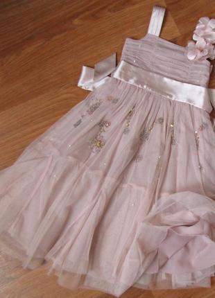 Нарядное платье next на 6 лет