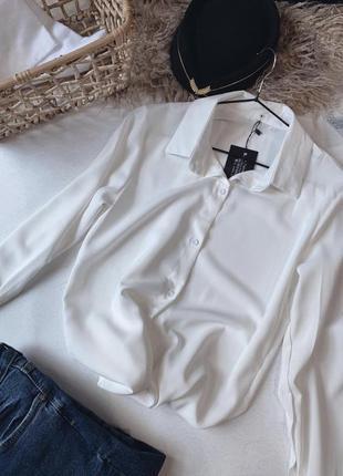 Белая  рубашка , блуза
