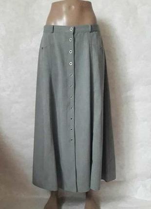 """Фимренная st.bernard юбка в пол в сером цвете """"колокольчик"""" с пуговицами, размер 2хл"""