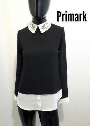 Шикарная блуза с красивым воротником