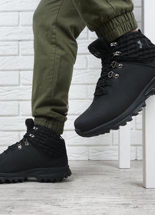Ботинки мужские кожаные зимние under armour stormproof черные