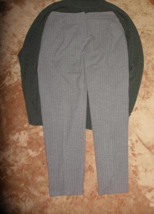 Классные зауженные плотные брюки  мом вискоза сharles voegele   для холодного времени года