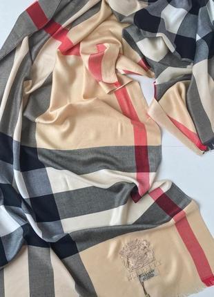 Кашемировый шарф burberry 100%кашемир