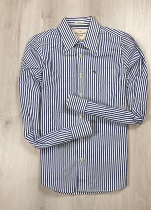 Приталенная рубашка abercrombie&fitch new york в полоску мужская