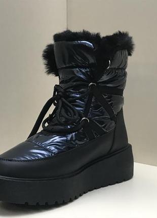 Зимние женские ботинки с мехом (36-41)