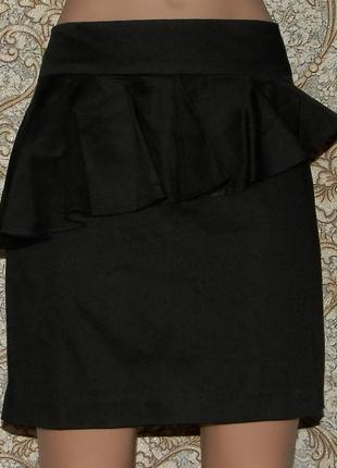 Классическая юбка с баской miss selfridge 12р
