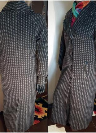 Драповое суконное пальто миди р.50-52 демисезонное
