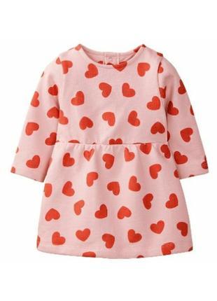 Теплое платье 62-68см