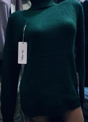 Гольф в рубчик 💚 свитер лапша