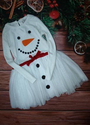 Клевое платье снеговичка next