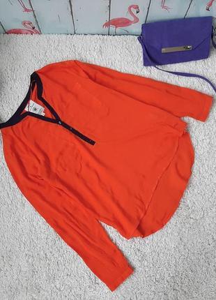 Яркая фирменная блуза из вискозы
