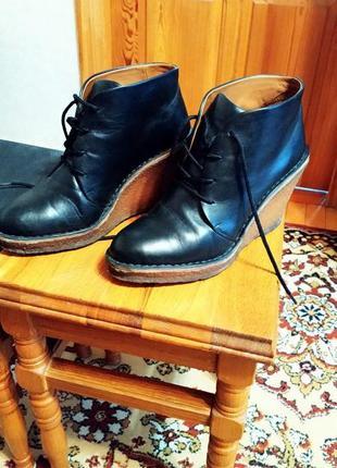 Кожаные крутые ботинки mark jacobs