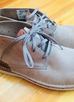 Мужские замшевые ботинки чукка clarks размер 41-42