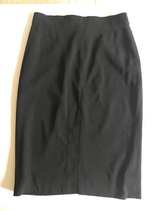 Черная классическая юбка карандаш givenchy