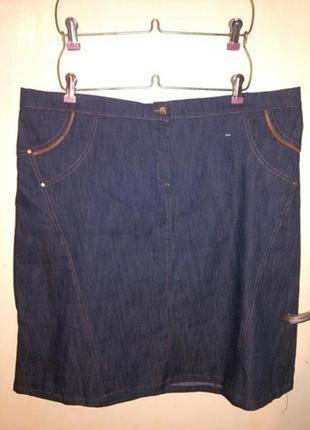 Итальянская,стрейч.эластичная.,стильная,джинсовая юбочка,бол. 20-28 размера,meteore