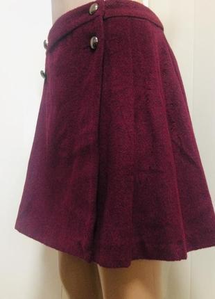 Трапециевидная  теплая юбка на пуговицах с завышенной талией от george