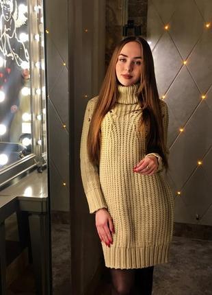 Тёплое зимние платье