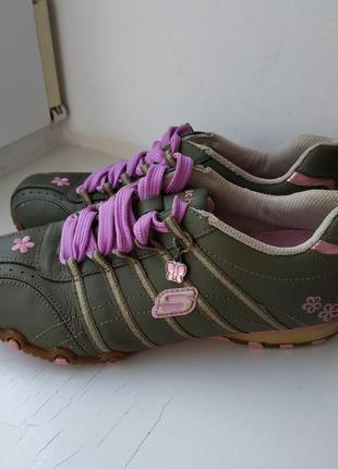 Кожаные кроссовки skechers 35-36р. 23 см.