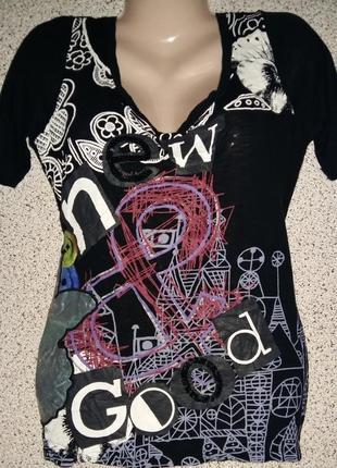 Яркая,красивая футболка от бренда desigual оригинал