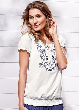 Блуза с вышивкой tchibo(tcm) l 44/46