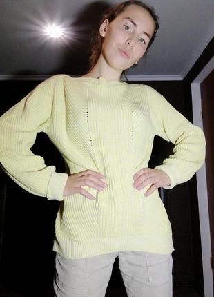 Хлопковый свитер кофта marks spencer джемпер пуловер