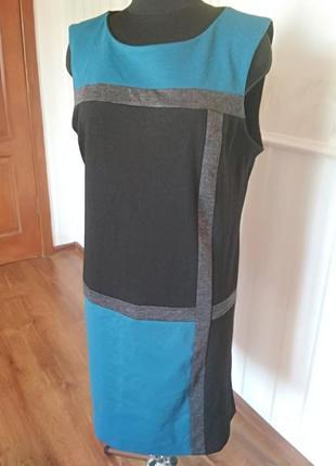Комбинированное платье большого размера 50-52 (46 евро).