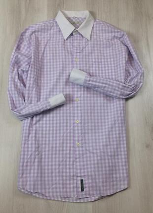 Приталенная рубашка ben sherman мужская в клетку