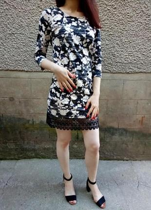 Чорно бежеве плаття з кружевом черно бежевое платье с кружевом