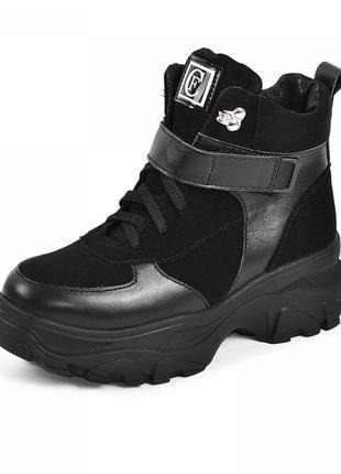 Зимние ботинки на платформе.