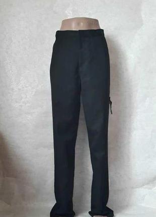 Фирменные george классические брюки в чёрном цвете на подростка 15-16 лет