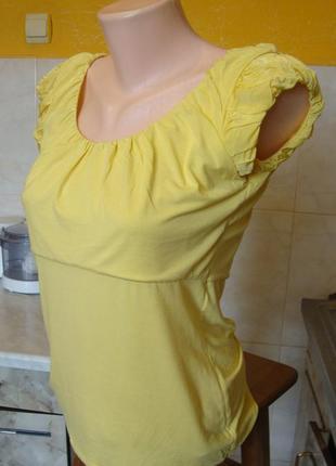 Блузка футболка желтая