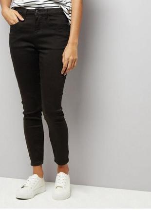 Черные базовые джинсы skinny,высокая посадка