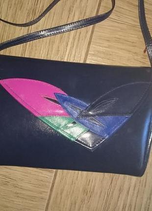Кожаная женская сумка, клатч clarks