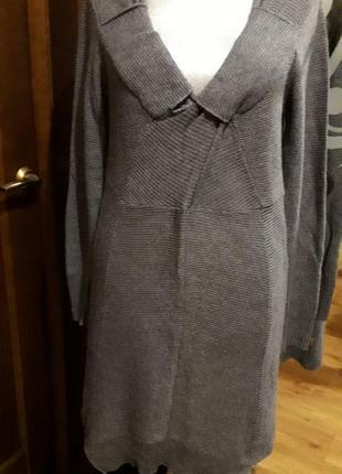 Стильное теплое вязанное платье-свитер  object collectors  item
