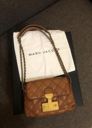 Marc jacobs кожаная сумочка кросбоди