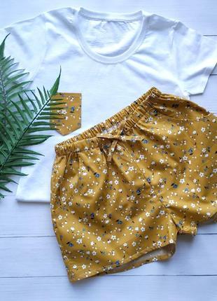Пижама из хлопка в мелкий цветочек