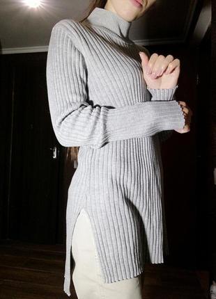 Джемпер кофта свитер в рубчик missguided под горло
