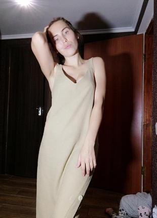 Платье миди  с пуговицами pull&bear