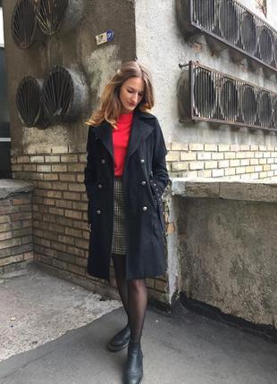 Шерстяное пальто s/m