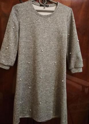 Платье с жемчужинами s-m