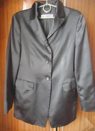 Роскошный шелковый брючный костюм jil sander