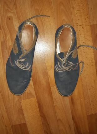 Мужчкие туфли, кожзам, замша,1 фото