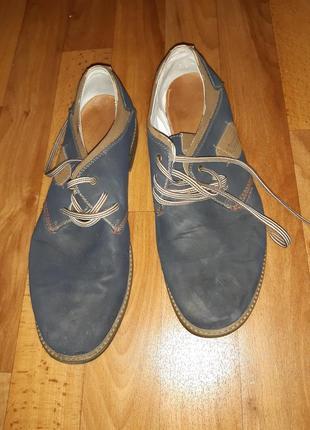 Мужчкие туфли, кожзам, замша,2 фото