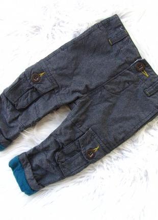 Стильные утепленные джинсовые штаны брюки baker by ted baker.