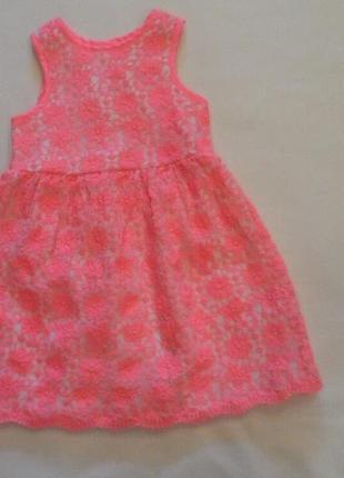 Кружевное платье , 1-1,5 года