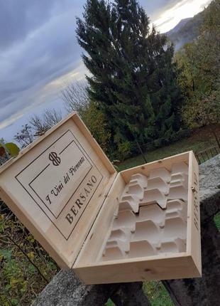Ящик для бутылок 6 шт вино италия
