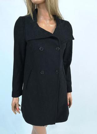 Пальто стильное united color of beneton, черное